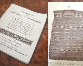 1920s knitting book Hand Book on Knitting & Crocheting - 44 patterns!