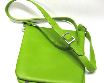 vintage hobo international leather bag   ...  neon green