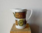 Vintage Portmeirion Pottery Mid Century Ceramic Creamer Talisman Design