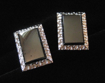 Swank Hematite Glass Cuff Links