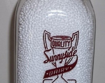 Sunnyside Dairy Edwards N. Y. Half Pint New York Milk Bottle