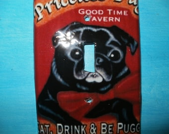 Priceless Pug Switch Plate Cover