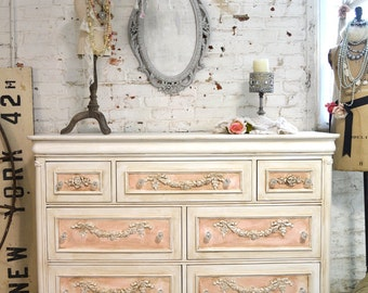 Painted Cottage Chic Shabby Romantic French Dresser LGDR24