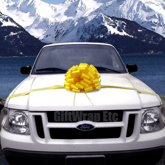Extra Large Yellow Car Bow Homecoming Wedding Gift Decoration