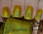 DROP OF SUNLIGHT Linear Holographic Yellow Nail Polish