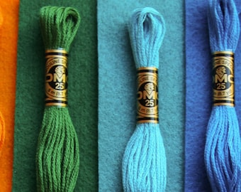 Wonderland - 6 skeins of Coordinating Embroidery Floss