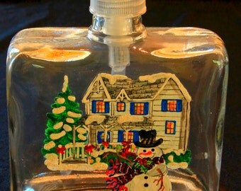 Square Soap Dispensers-Snowmen-Item 787