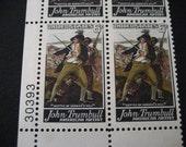 Scott No 1361  John Trumbull Mint Block 4~6c Vintage US Battle of Bunker Hill Commemorative Postage Stamps from 1968 MNH~OG
