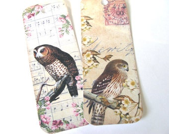 Owl Bookmarks , Set of 6 , Woodland Owls , Bird Bookmarks , Forest Bookmarks , Nature Bookmarks , Book Gift , Book Accessories