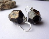 shadowy glimmers ... natural mica mineral gemstone nugget earrings