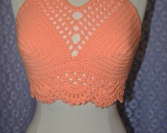 Crochet Halter Top / Festival Top / Gypsy Hippie SALE