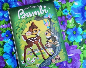 Vintage Walt Disney's Bambi Big Golden Book
