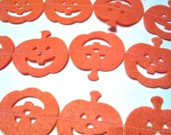Halloween Pumpkin Garland Jack O Lantern Pumpkin Banner Bunting Decoration