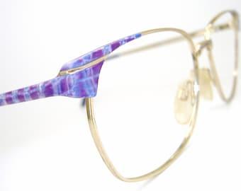 Vintage Oversized 80s Eyeglasses Eyewear Frame  NOS