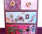 Secret Garden 4 drawer Jewelry Box Personalized