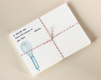 Kitchen Tools Recipe Cards: Set of 12