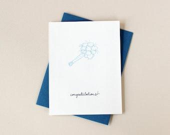 Wedding Bouquet Congratulations Greeting Card