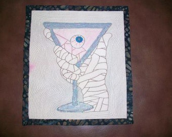 """Small Quilt titled """"May I Offer You a Drink"""""""