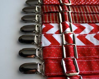 Little and Big Guy SUSPENDERS - Ravishing REDS Collection - (Newborn-Adult) - Baby Boy Toddler Teen Man - (Made to Order)- Valentine's Day