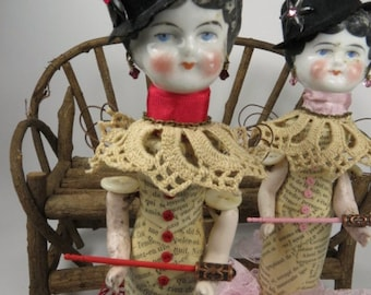 """Assemblage Angel """"O"""" Assemblage Art Doll,  Red Assemblage Doll"""