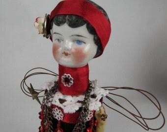 "Angel ""Charlie the Charleston Girl"" Assemblage Art Doll"