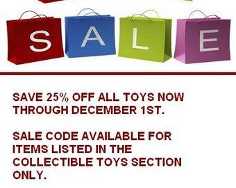 SALE Coupon Code Collectible Toys