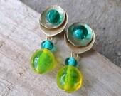 Lampwork Earrings, Handmade Lampwork Jewelry, Handmade Artisan Earring Gift For Mom on Mother's Day