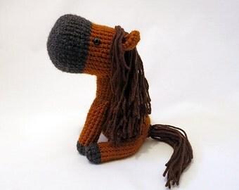 Crochet PATTERN PDF - Amigurumi Horse - amigurumi pattern, cute crochet horse, little pony, crochet animal plush, children's toy, softie