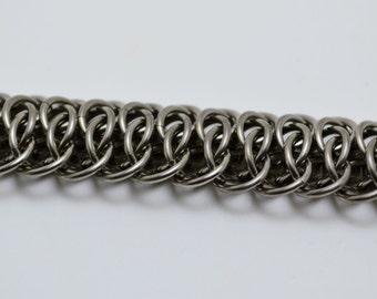 Titanium Viperscale Chainmaille Bracelet Medium