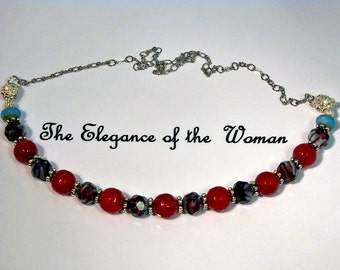 CONVERTIBLE Gemstone Jewelry - This is a necklace, anklet, and Bracelet is all  3 in 1.