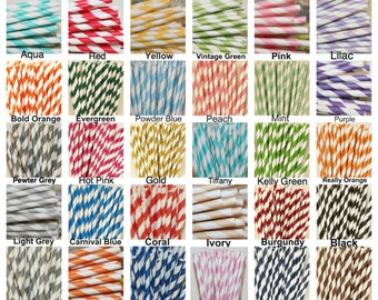 "200 Paper Straws, MADE In USA, Pick Your Color, Stripe Paper Straw, Drinking Straw Wedding Birthday Party ""ORIGINAL"" Creator of Paper Straws"