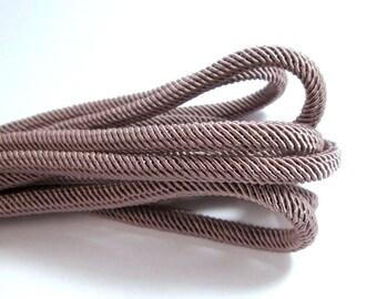 Rib silk cord, 7mm dusty lilac cord - 1m
