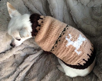 Dog Sweater - Jumping Deer (JD0127)