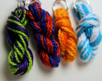 Two Color Yarn Skein Earrings