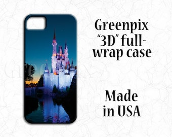Disney iPhone 7 case, Magic Kingdom, Cinderella Castle, princess, original greenpix photography, full wrap i phone 7 cover