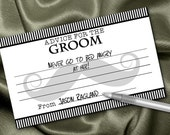 10 Groom Advice Cards, Wedding Advice, Bachelor Party Game, Couple Shower Game, Engagement Party Game, Moustache