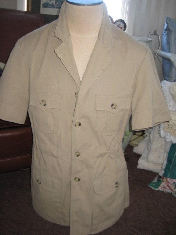 vintage safari coat s jacket khaki jacket