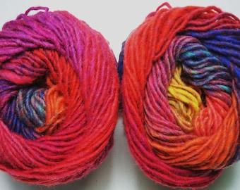 Noro Kureyon Wool Pink Orange Purple Blue Yarn One Skein 102 Lot M