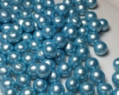 Brilliant Blue Fondant Pearls, Edible Pearls, Cupcake Decoration, Blue Wedding Cake Decoration, Baby Boy Cake Decorations
