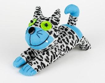 Christmas Gift New Year Gift Birthday Gift Handmade Sock Cheshire Cat Kitty Stuffed Animal Baby Toy