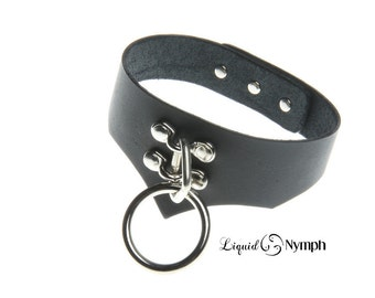 BDSM Collar Black Leather Bondage CHOKER - Daddy Dom DDlg ABDL - Kitten Pet Play Fetish Slave Submissive Lolita Collar Valentine's Day Gift