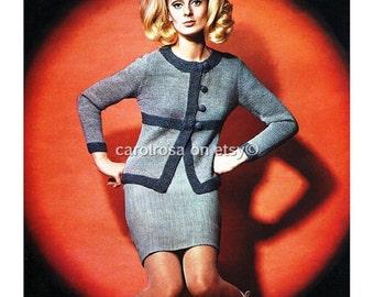Ladies Knitting Pattern - 1960s Retro pattern - Jacket Sizes 12,14 and 16