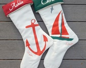 PERSONALIZATION on stocking or tree skirt from this shop name painted Christmas Crabby Chris holiday accessory custom