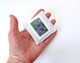 Lavender sachet, decorative sachet, organic drawer freshener, bridal shower favor, organic sachet pillow, teacher gift,  linen sachet