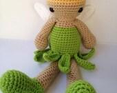 PATTERN - Tinkerbell inspired Amigurumi Doll Plush crochet