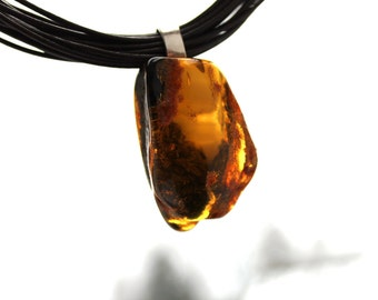 High Fashion Amber Necklace Statement Jewelry Large Amber Pendant Huge Stone