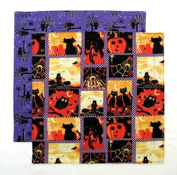 Halloween napkin kids cloth napkin 1 double sided fabric for Halloween cloth napkins