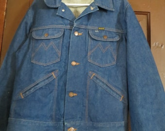 vintage     Maverick dark denim jacket TRUCKER JACKET     size 38