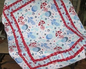 Rocket Ship Lap Quilt for Kids of all Ages!