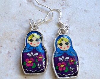Russian Doll Earrings, Babushka Doll Earrings